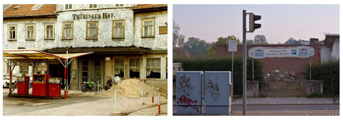 Gotha - Hotel Thüringer Hof - Arnoldiplatz - 1989 / 2010 - cc-Lizenz sludgegulper (flickr) - DDR 80'er Jahre im Vergleich zu heute - Gotha Gestern und Heute