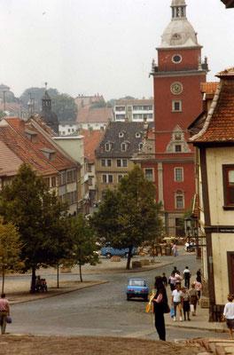 Gotha Hauptmarkt / Rathaus 1989 - cc-Lizenz sludgegulper/flickr