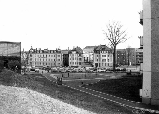 Gotha - Bürgeraue Ecke Gartenstrasse - 1989