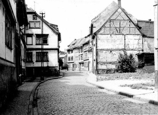 Gotha - Fritzelsgasse von der Blumenbachstrasse zur Bürgeraue - 1978