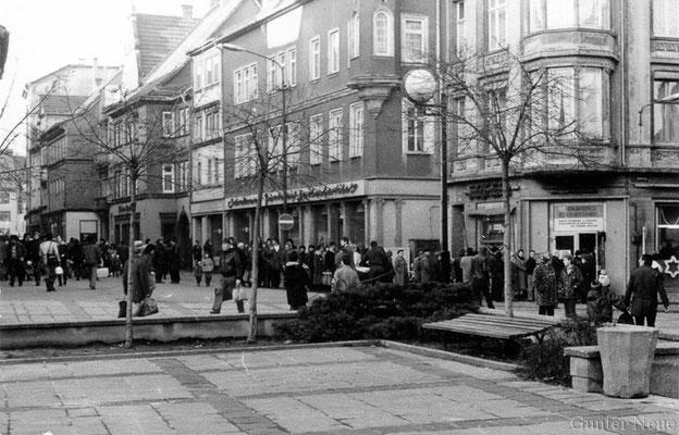 Gotha - Marktstrasse - 24. Dezember 1984