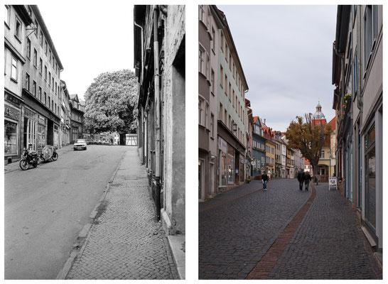 Gotha - Buttermarkt - 1987 / 2010 - DDR 80'er Jahre im Vergleich zu heute - Gotha Gestern und Heute