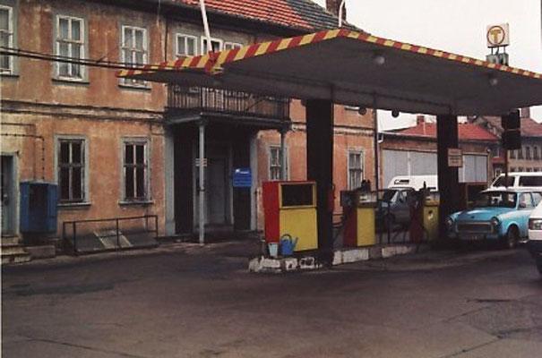 Gotha - Tankstelle Huttenstr. - 80er Jahre