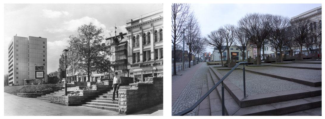 Gotha - Ekhofplatz / Leninplatz - 80er Jahre / 2010 - DDR 80'er Jahre im Vergleich zu heute - Gotha Gestern und Heute