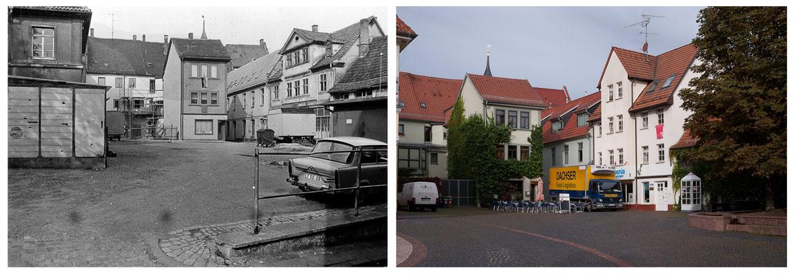 Gotha - Buttermarkt - 1988 / 2010 - DDR 80'er Jahre im Vergleich zu heute - Gotha Gestern und Heute