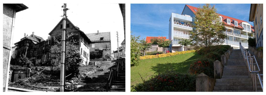 Am Berg in Gotha / Thüringen 1978 / 2010 - DDR 80'er Jahre im Vergleich zu heute - Gotha Gestern und Heute