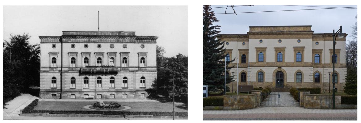 Gotha Bahnhofstrasse DDR 1960 / 2014 - DDR 80'er Jahre im Vergleich zu heute - Gotha Gestern und Heute