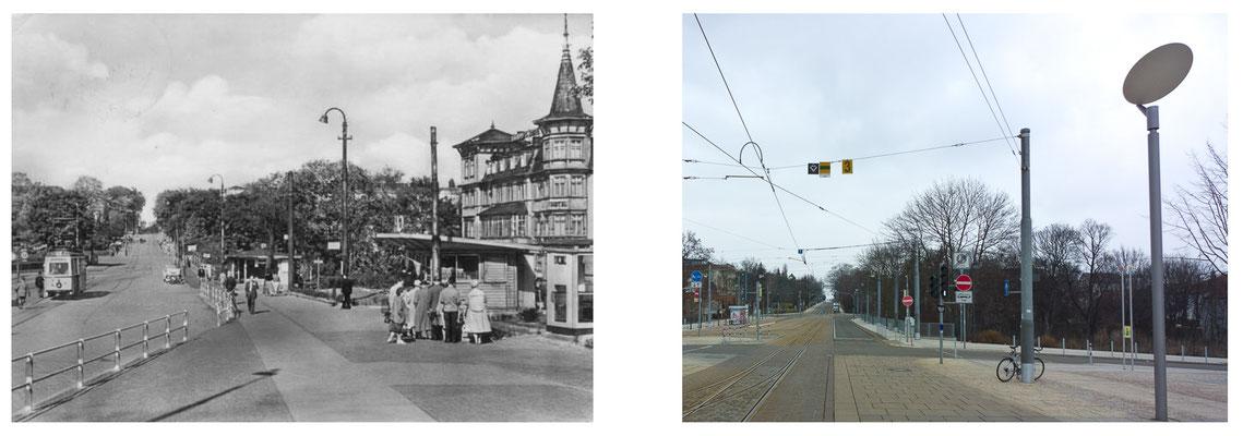 Gotha Bahnhofsvorplatz Bahnhofshotel DDR 1964 / 2014 - DDR 80'er Jahre im Vergleich zu heute - Gotha Gestern und Heute