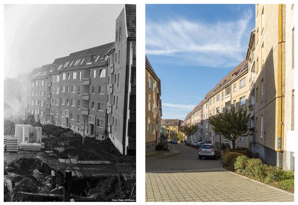 Der Nonnenberg in Gotha 80er Jahre - DDR 80'er Jahre im Vergleich zu heute - Gotha Gestern und Heute