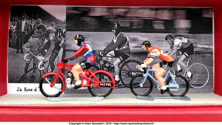 """Jacques Anquetil - octobre 1967 à la Cipale (Paris 12ème) - """"La Roue d'Or"""""""