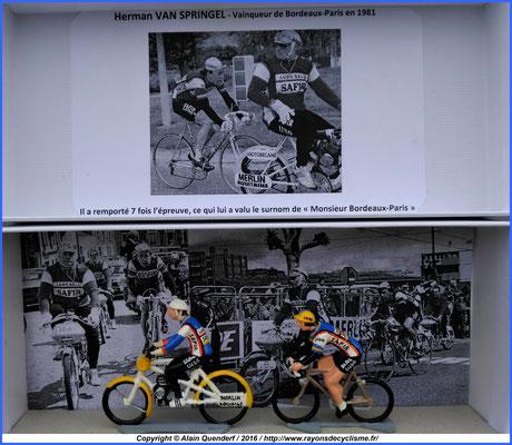 Herman Van Springel - 1981 - 7ème victoire dans Bordeaux-Paris