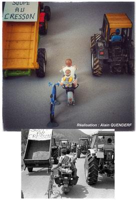 Pascal Poisson - Tour de France 1982 - Manifestation des agriculteurs