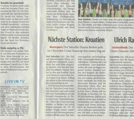 Lippische Landeszeitung Nächste Station: Kroatien