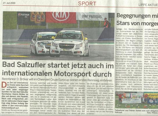 Lippe aktuell Bad Salzufler startet jetzt auch im internationalen Motorsport durch