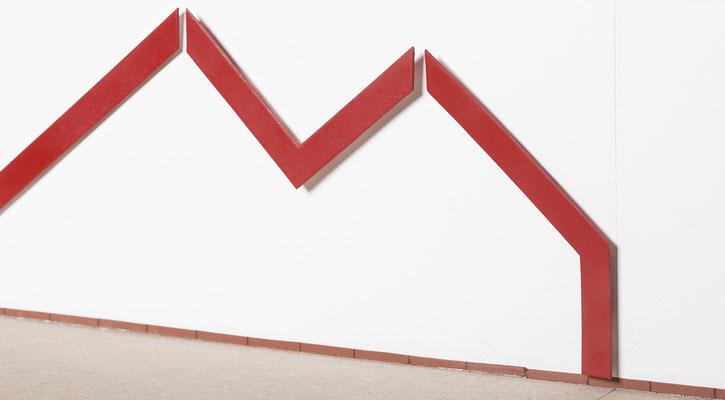 Beate Gärtner | Auf_dem_Weg | 2018 | MDF_ Pflexiglas_Lack | ca. 350x2200x15cm  (Entwurf) | Foto@Bernhard Rieks
