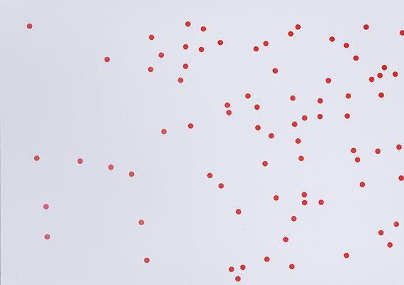 Beate Gärtner | Essen | 2012 | Papier_Klebepunkte | 42x59,7cm | Foto@Bracht Fotografie