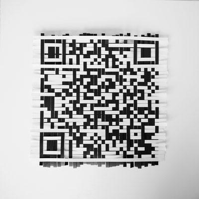 beategärtner|2019|Aus der Serie Poesie des Alltags: Alexa|Papierstreifen|ca. 20x20 cm