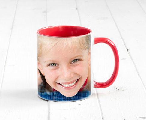 Werbetasse + Kaffeebecher bedrucken mit deinem Logo oder Fototo