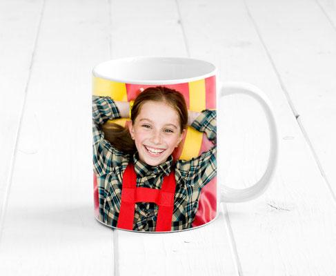 Werbetasse + Kaffeebecher bedrucken mit deinem Logo oder Foto