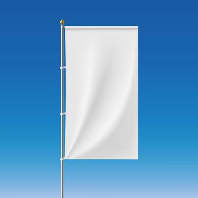 Werbefahne Hissfahne bedrucken mit Ausleger von Feld Textil GmbH