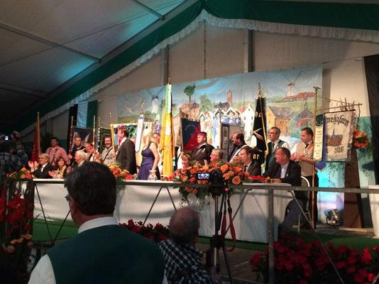 Bühnenbild Festzelt Schützenfest