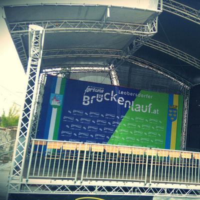 Werbebanner Bühnenbild Dekostoff von Feld Textil GmbH Krefeld