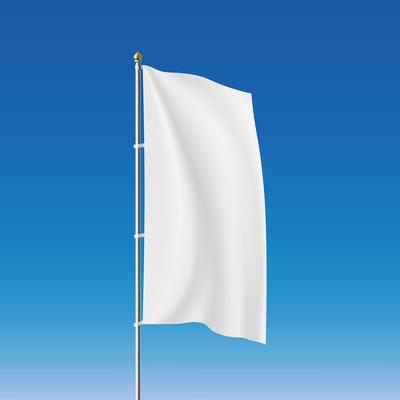 Werbefahne Hissfahne mit Logo ohne Ausleger von Feld Textil GmbH