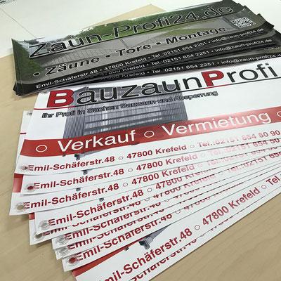 Werbebanner PVC Frontlit Bauzaunbanner von Feld Textil GmbH in Krefeld