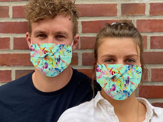 """Motiv """"Winter"""" / """"GRIMASKE"""" antivirale Atemschutzmaske - https://www.krawatten-tuecher-schals-werbetextilien.de/"""