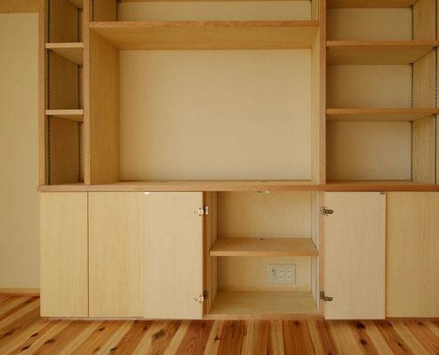 上:TVボード、下:AV機器棚