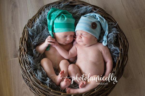 Zwillinge Marienheide, Korb, Babymütze, Babyfotos Zwillinge Gummersbach
