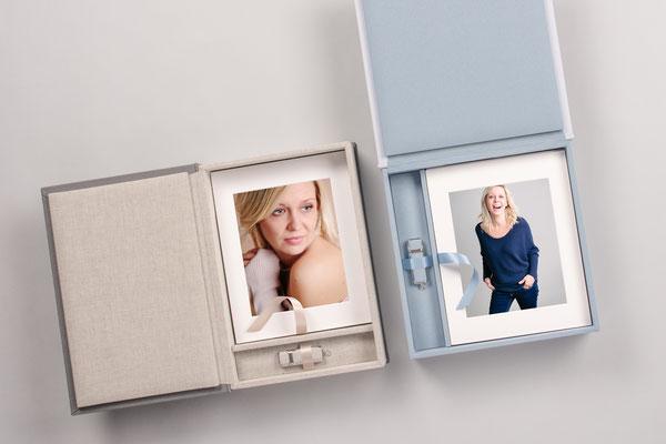 Passepartout Fotobox gerahmte Bilder Fotoshooting Erinnerungen
