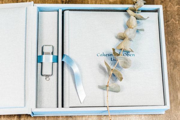 Fotoalbum mit Albumbox und USB