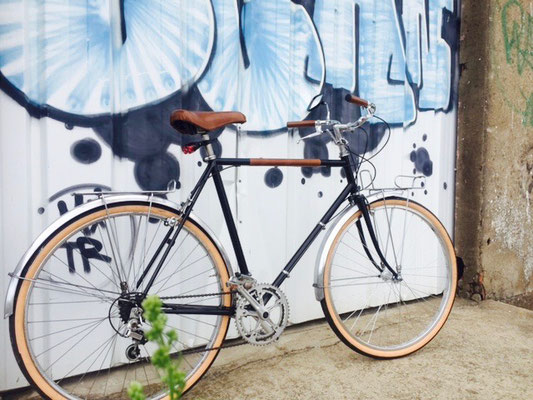 renovation vélo randonneuse en velo de ville
