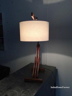 lampe industrielle articulée bois