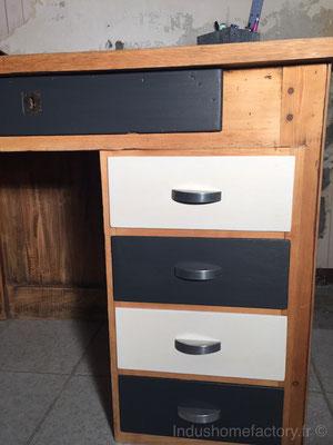 bureau vintage relooké