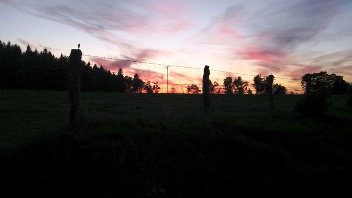 schöner Sonnenuntergang in Lahnhof