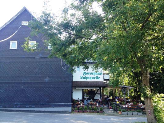 die Unterkunft für heute: Forsthaus Lahnquelle