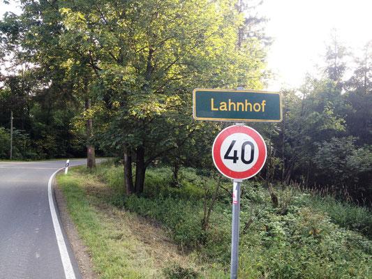 endlich erreicht: Lahnhof