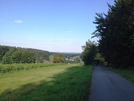 Blick auf das Dorf Benfe