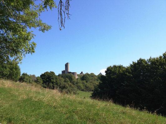 Burg Greifenstein von hinten