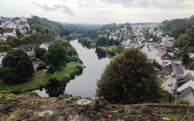Blick von der Burg Runkel