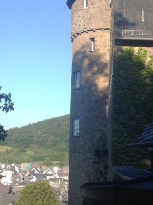 Blick vom Schloss auf die Stadt Herborn