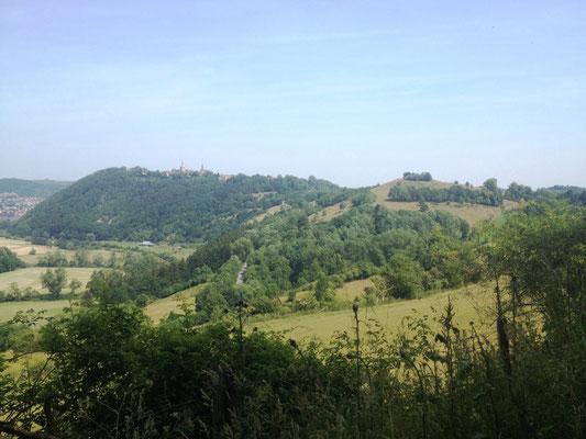 Blick zurück nach Obermarsberg