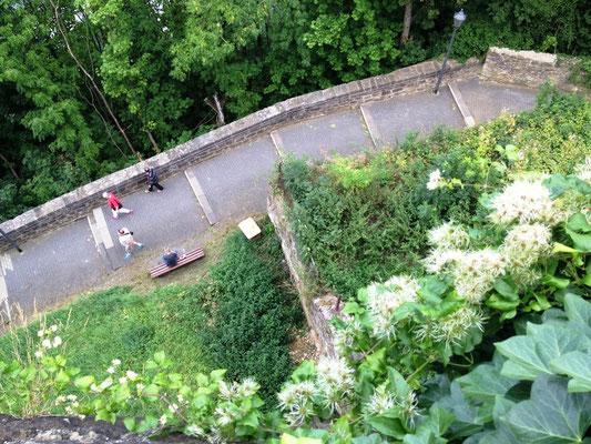 Blick von der Burgmauer (mit 'nem Glas Apfelsaftschorle in der Hand)
