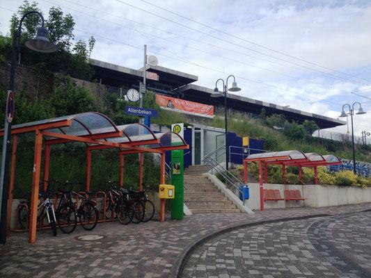 Das Ende meiner Tour: Altenbeken am Bahnhof