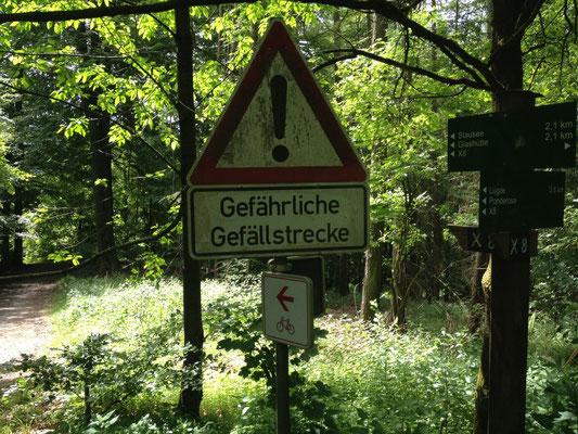 Emmerweg: Abstieg zum Schieder See