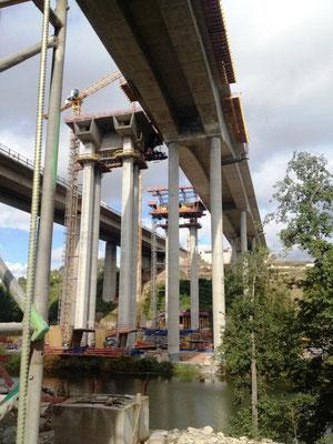 Die Autobahnbrückenbaustelle, die fast einen Riesenumweg bedeutet hätte