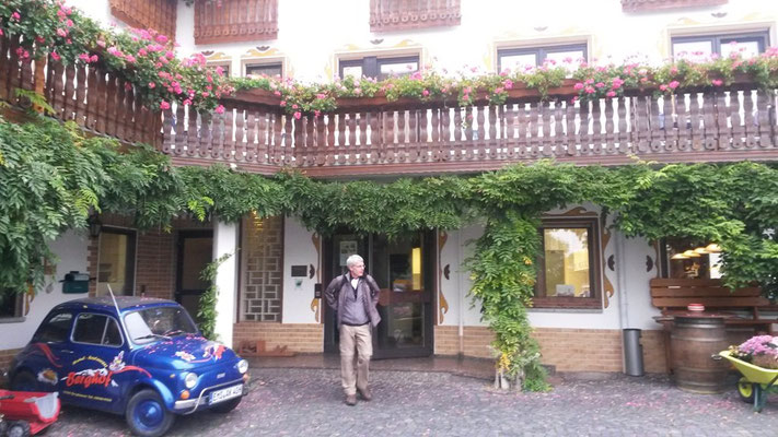 Hotel Berghof am frühen Morgen.