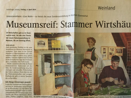 """Museum Sonderausstellung  """"Zum Wohl"""" - 2014"""